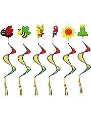 Hearthxy Spiraalwindspel, kleurrijk windspel, windspinner, windspiratie, tuin, uv-bestendig en weerbestendig, voor tuin en huis