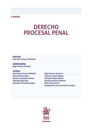 Derecho Procesal Penal 2ª Edición 2020 (Manuales de Derecho Procesal)
