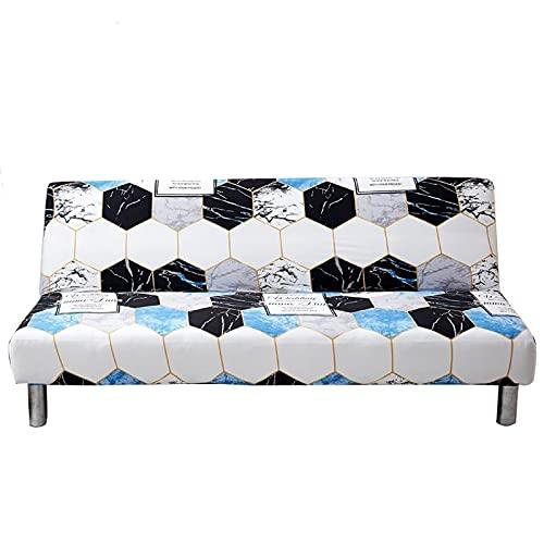 Protector para Sofás 3 Plazas Sin Brazos Elástica Impresión Cubre Sofá Cama Retirable Ajustable Universal Funda para Sofá Lavable en la Lavadora para Sala de Estar ( Color : AA , Size : 160-190cm )