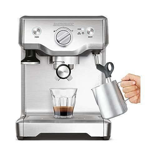 Gastroback 42609S 42609_S Design Espresso Maschine Advanced S, 1.700 Watt Thermo-Block-Heizsystem, Espressopumpe (Ulka/15 bar) und Milchschaumdüse, 18/8 Edelstahl, 2.2 liters, Silber