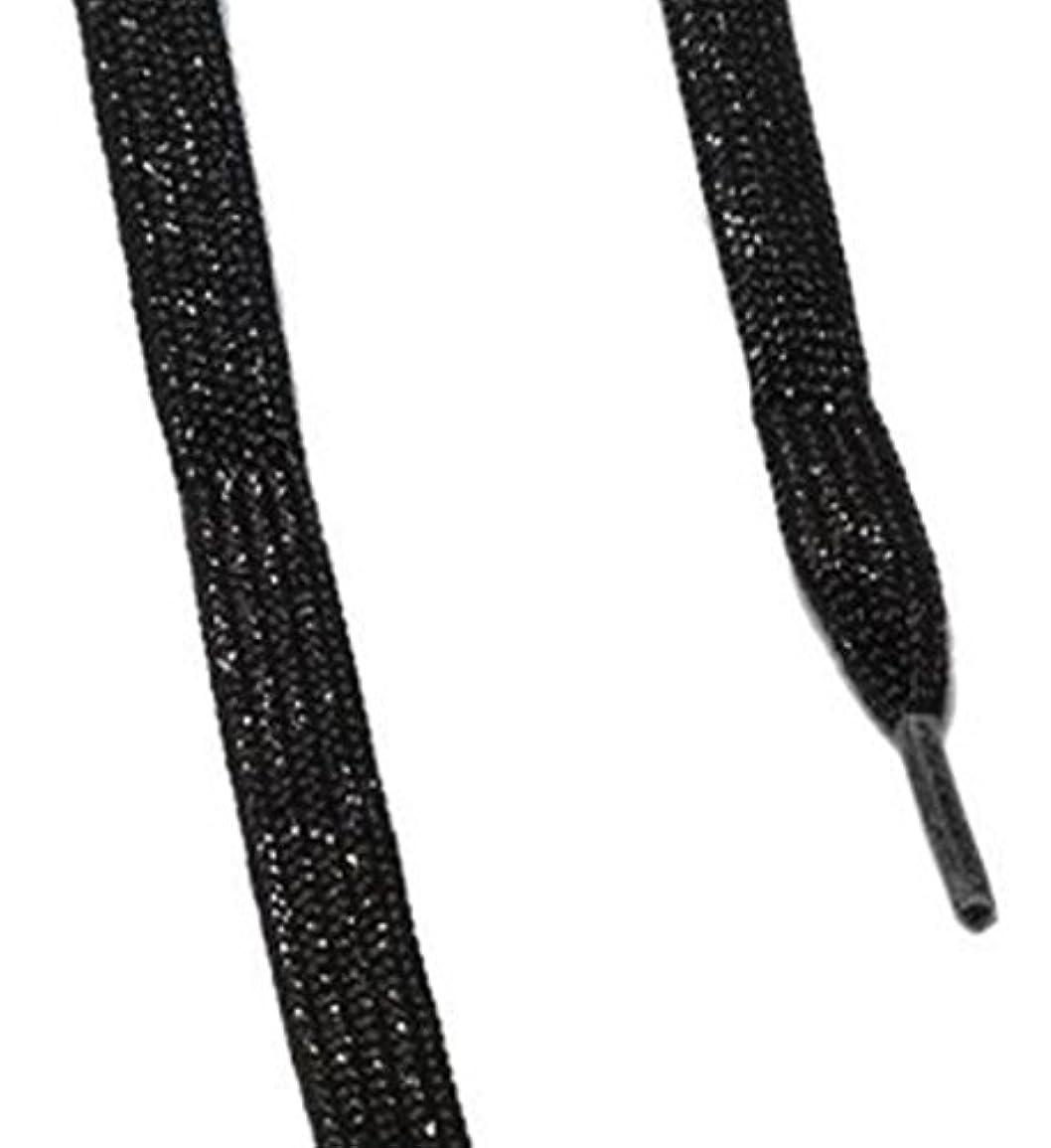 セイはさておき療法打たれたトラックis-fit シューレース メタリック  ブラックRI-1 120cm