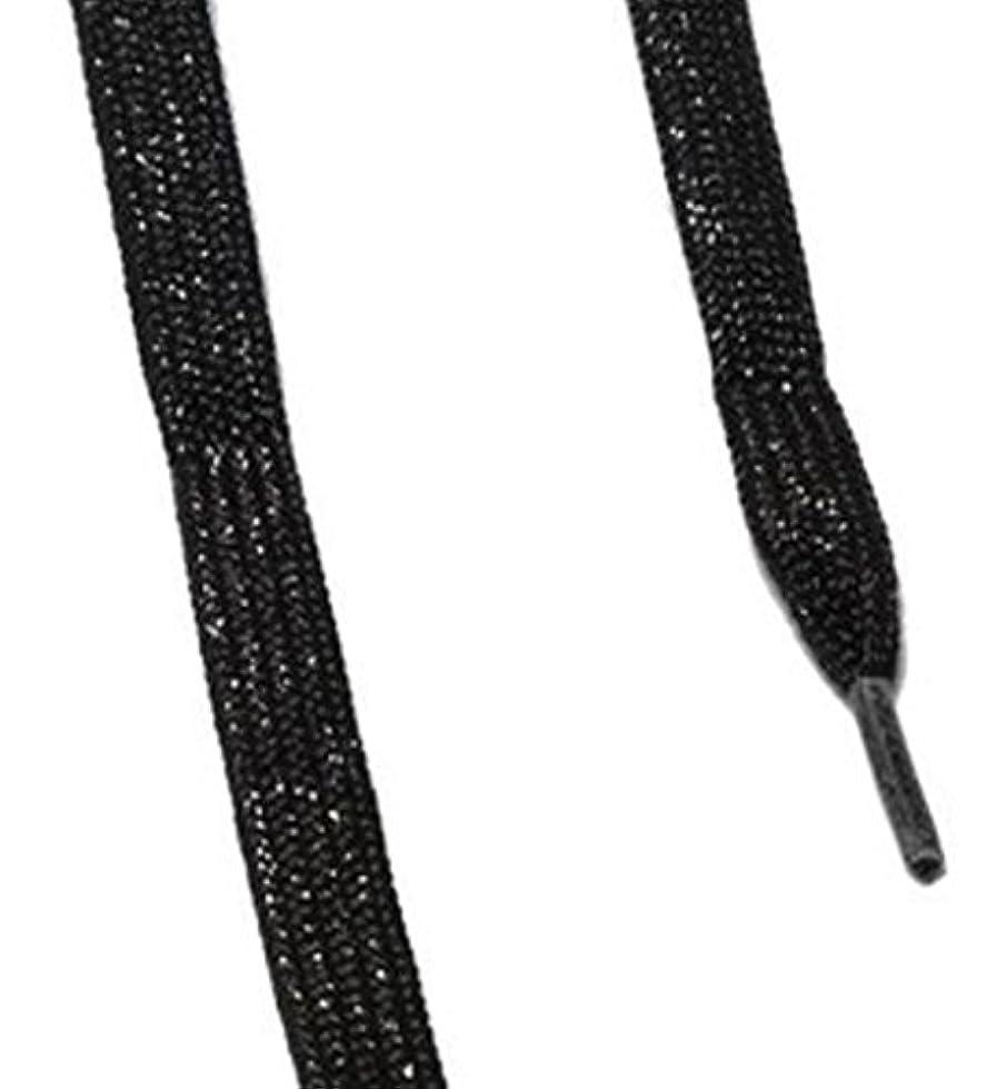 服ありふれたさておきis-fit シューレース メタリック  ブラックRI-1 120cm