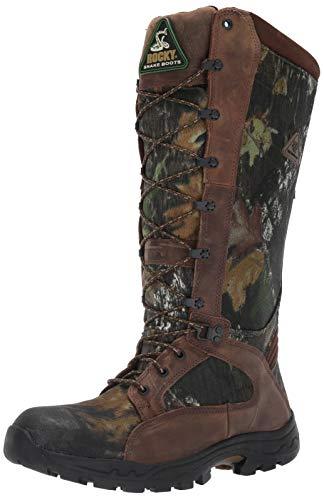 Rocky Men's Waterproof Snakeproof Hunting Boot Knee High, Mossy Oak Breakup, 12