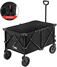 VIVOHOME Heavy Duty Collapsible Folding Outdoor Utility Wagon Cart with Wheels for Cargo and Picnic 176lbs Capacity