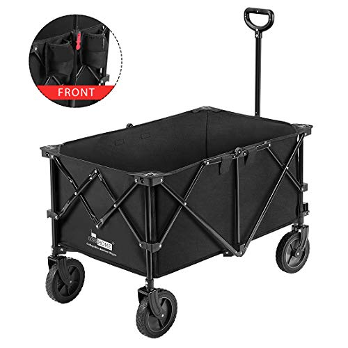 VIVOHOME Heavy Duty Collapsible Folding Outdoor Utility Wagon Cart with Wheels...