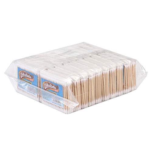 arthomer 10 Packs Jetables Cotons-tiges en Bois Double Conseils Nettoyage Coton Bâtons Oreilles Oeil Fard À Paupières Brosse Outil pour l'huile De Maquillage Application