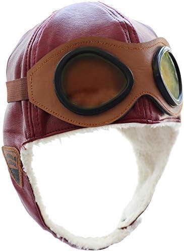 Pilot Aviator Fleece Warm Hat Cap with Earmuffs for Kids Toddlers
