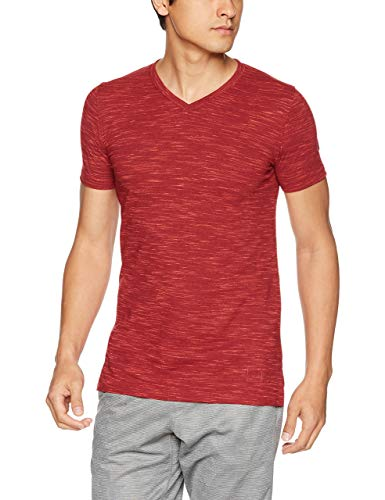 Under Armour Sportstyle Core V Neck tee - Camiseta de Manga Corta para Hombre, Hombre, 1306492, Rapture Red (620)/Rapture Red, Extra-Small