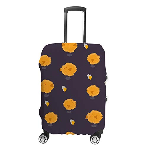 CHEHONG Suitcase Cover Luggage Cover Cute Chicks Dark Travel Trolley Case Protective Washable Polyester Fiber Elastic Dustproof Fits 29-32 Inch