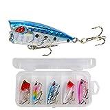 Voigoo 5 pièces/Set Leurre Eau Activated Lifelike Artificielle Dur Bait leurres de pêche à pêche Kits for la pêche en Eau Douce (4cm 32g)