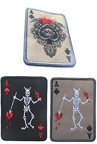 KOSSJAA Stickerei AufnäherPatches Klett Abzeichen Klettbänder Militär Aufkleber für Rucksäcke 4 pcs Set (3PCS C)