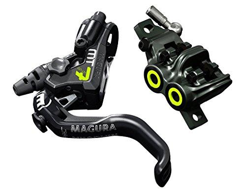Magura MT7, 1-Finger HC-Hebel, Links/rechts verwendbar, 2.200 mm Leitungslänge, Einzelbremse, inkl. Zubehör Fahrradbremse, schwarz, One Size