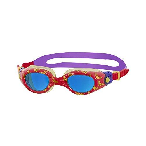 Zoggs Kids 'Wonder Woman Stampato occhialini da Nuoto, Rosso/Giallo/Viola, 0–6Anni