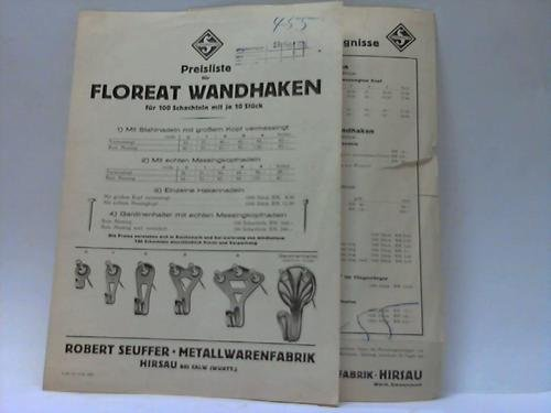 2 Preislisten für Floreat-Wandhaken