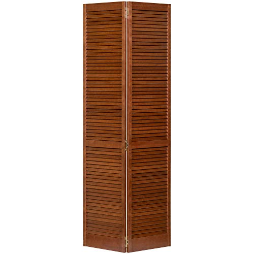 Kimberly Bay Traditional Louver Louver Espresso Solid Core Wood Bi-fold Door (80x24)