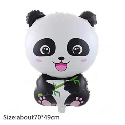 Cartoon Panda Thema Gelukkige Verjaardag Party Straw Plate Tafelkleed Set Kerstmis Bruiloft voor Home Decoratie, B0756
