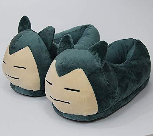 FENGHU Cartoon Pokémon Pika Hausschuhe Erwachsene Größe Kigurumis Anime Pokemons Plüsch Schuhe Cosplay Festival Cute rutschfeste Freizeitschuhe Frau Sneakers Party