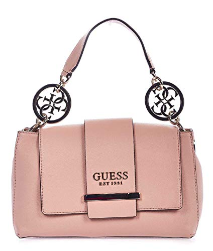 Luxury Fashion | Guess Dames HWEG7474180PEACH Roze Kunstleer Handtassen | Lente-zomer 20