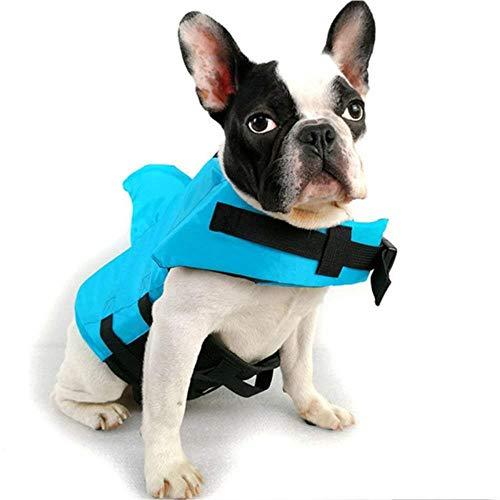 renzhen Hundeweste, Kleidung für Haustiere, Sicherheits-Schwimmanzug, Hunde-Schwimmweste, Sommer-Hai-Haustier-Schwimmweste für kleine, mittelgroße und große Hunde