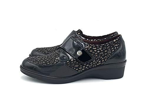 Zapato CUÑA - Mujer - Negro - pitillos - 6311-36