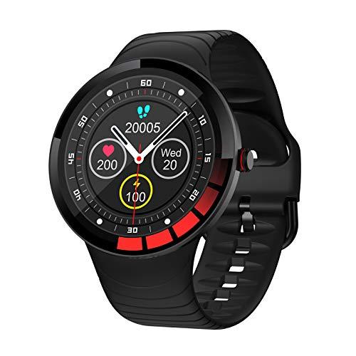 XINGLEI Reloj Inteligente con Bluetooth, Nuevo y Elegante Brazalete Deportivo con Pantalla táctil Completa, detección de frecuencia cardíaca y presión Arterial, IP68 a Prueba de Agua