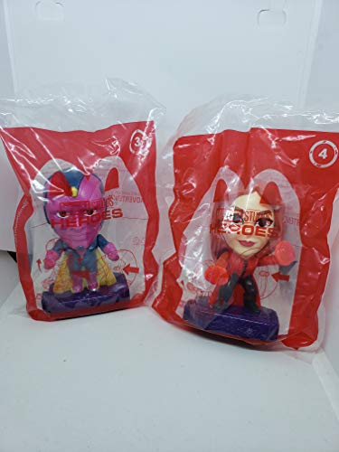 McDonalds 2020 Marvel Heroes Avengers #3 Vision & #4 Scarlet Witch
