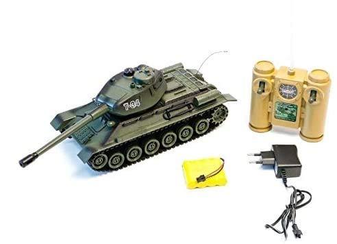 s-idee® Battle Panzer 99809 1:28 mit integriertem Infrarot Kampfsystem 2.4 Ghz RC R/C