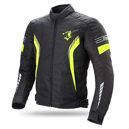Yamoto - Chaqueta de moto para hombre, impermeable, cordura, tejido Cordura 5XL...