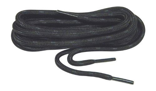 GREATLACES Black w/Black Kevlar proTOUGH(tm) Reinforced Heavy Duty Boot Laces Shoelaces (2 Pair Pack) (63 Inch 160 cm)