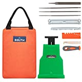 Chainsaw Sharpener Kit, Chainsaw Teeth Sharpener for 14/16/18/20 Inch One/Two Holes. Safest/Fastest Manual Chainsaw Blade Sharpener Tools. Compact Design Chainsaw Tool Pouch. Unique Chainsaw File Set