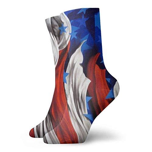 An Green Calcetines UnisexArte de la bandera de Estados Unidos personalizados de 199 cm de largo Calcetines de regalo