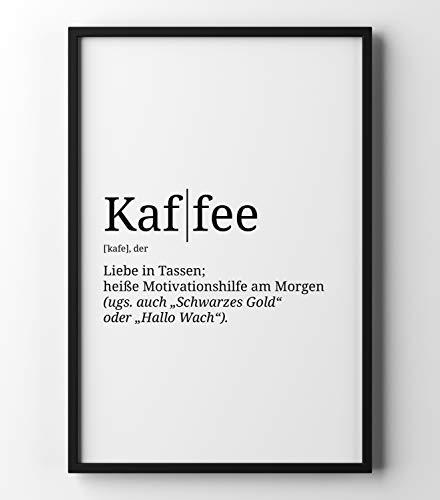 Papierschmiede Definition: Kaffee | DIN A4 | Poster mit Worterklärungen wie im Duden für Deine Wanddeko | Kunstdruck für den Bilderrahmen - ohne Rahmen