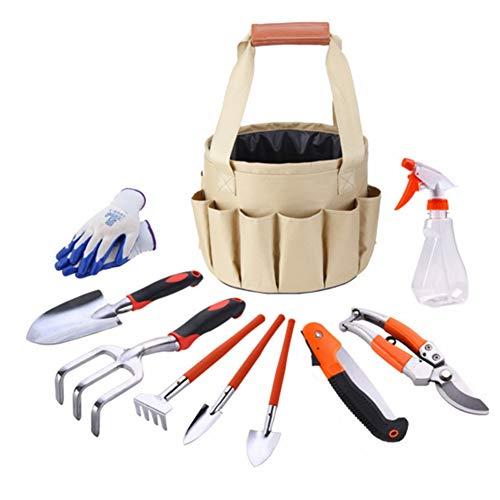 Purchase LNLW Gardening Hand Pruner Shovel 10 Pieces Set with Honeycomb Pot Scissors Graft Scoop Rak...