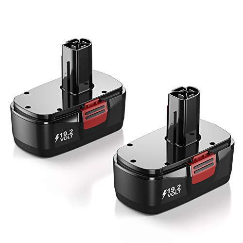 2 Pack Upgraded 3.7Ah Battery Replacement for Craftsman DieHard C3 Cordless Tool Battery 130279005 130279003 130279017 315.113753 315.114850 315.114852 315.11485 315.115410 1323903 1323517 11375 11376