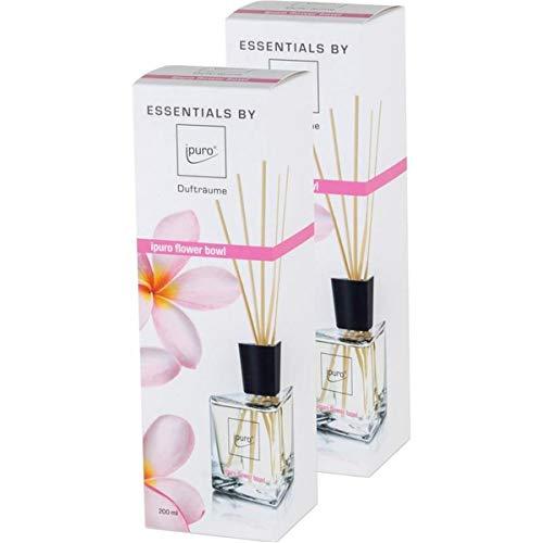 2x ipuro Flower Bowl Essentials Raumduft Diffuser 200ml
