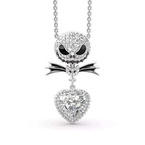 HANRESHE New Crystal Pendant Necklace Zircon Pendant Nightmare Cartoon Gothic Woman and Girl Jewelry Before Christmas and New Year
