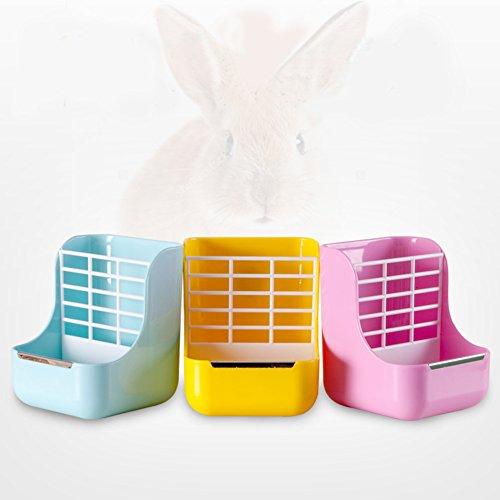 Bunny Rabbit Supplies Totoro - Cuenco para gatos con forma de conejo holandés, dos en uno, para mascotas, productos de aves de corral, cobayas, césped y conejo
