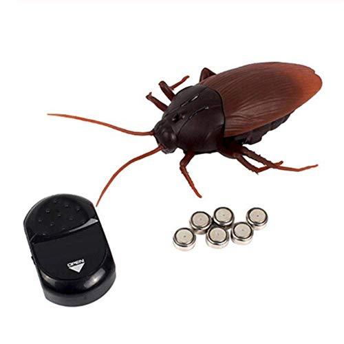 YWT Control Remoto Cucaracha Juguete Realista cucaracha Falsa, Juguete de Broma, Truco de Miedo, Decoraciones Divertidas de Halloween Navidad