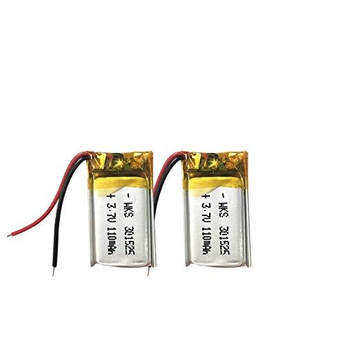 ahjs457 2 uds 3,7 V Lipo Celdas 301525 110 mah batería Recargable de polímero de Litio para Pluma de Lectura Pulsera Inteligente Auriculares Bluetooth MP3 MP4 MP5