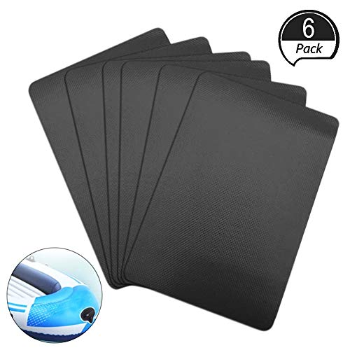 PVC Patch Kit for Inflatables Waterproof,6 Pcs PVC Boat Repair Kit for Inflatable Boat Kayak Canoe Pool (Black)