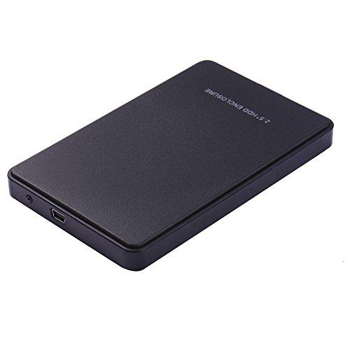 xiangpian183 Caja para Disco Duro Externo - Caja de Disco Duro HDD sin Necesidad de Herramientas SATA a USB 3.0, Negro o Blanco, 2.5 Pulgadas