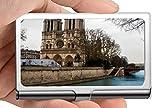 Nombre de la empresa Titular de la tarjeta Monedero, Notre Dame Edificio Arquitectura Edificio Iglesia Río Francia Tarjeta de crédito Estuche de identificación/Titular/Tarjetas