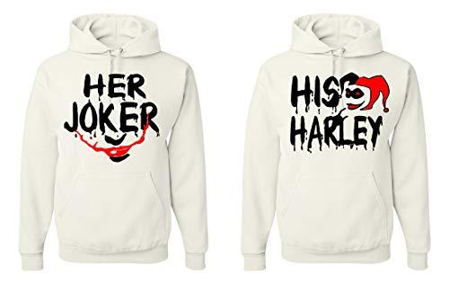 Tutiinca Her Joker His Harley Matching Unisex Couple Hoodies