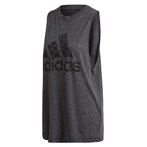 adidas Damen Tank Top Winners, Black Melange, M, FL4184