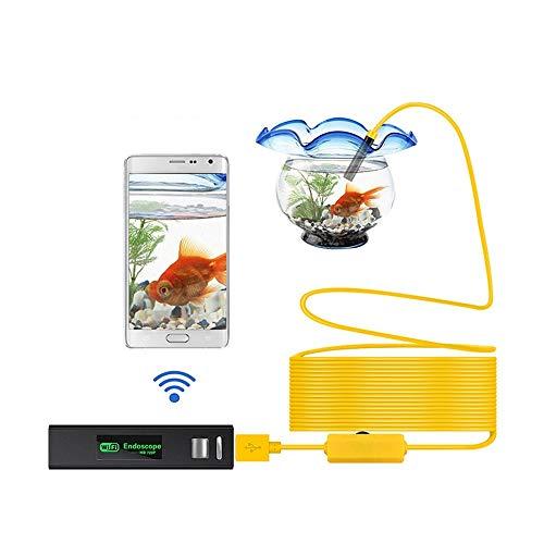 Borescope 1200P draadloos WIFI endoscoop Camera USB Borescope for Android IOS-endoscoop Mini waterdichte camera 8mm 1M Hard endoscoop QPLNTCQ