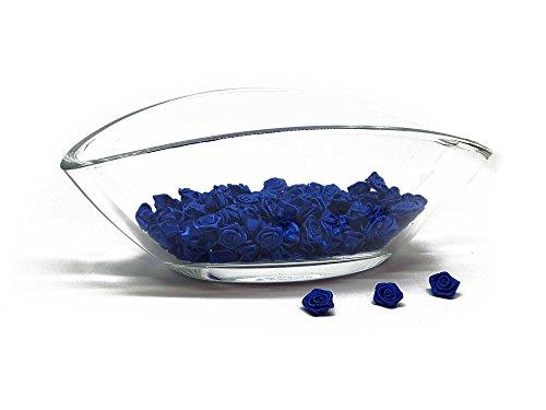 200 roses - Décoration pour mariage - Fleurons satin - Roses 15mm - Set Bleu