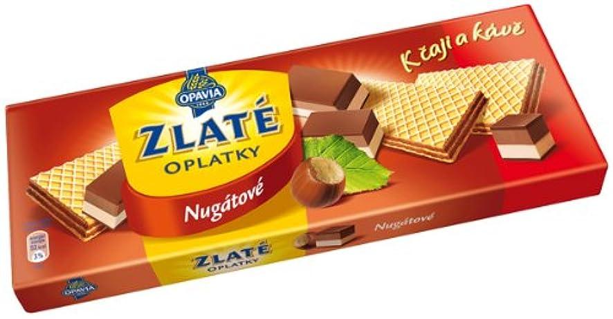 Opavia Zlate Oplatky Nugate (146g/5.1oz) Wafers with Nugate Filling