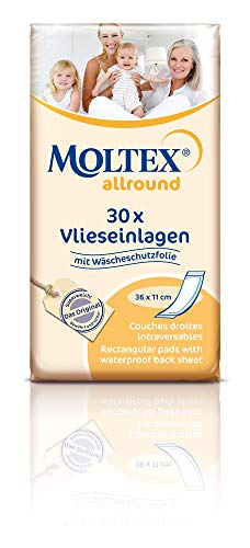 Moltex Allround Serviettes hygiéniques 36 x 11 cm Incontinence Homme U Femme avec protection Parure