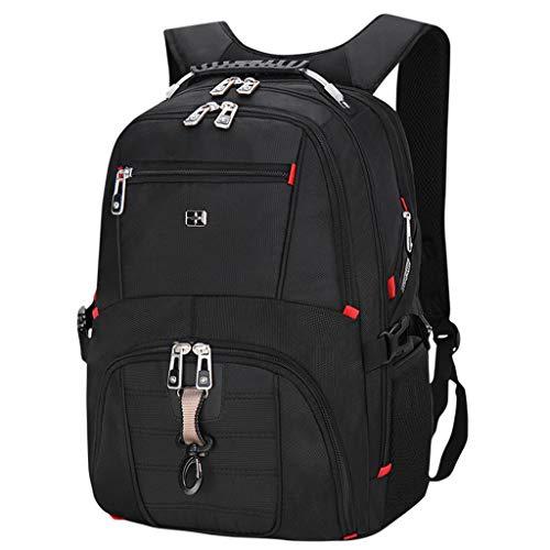 LXMJ Schweizer Taschenmesser Rucksack Männer Rucksack Große Kapazität Reisetasche 16 Zoll Business Computer Tasche Lässig Tasche
