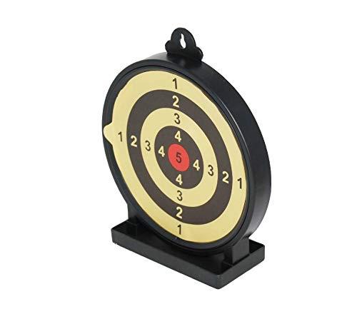 ARSUK Airsoft BB Schießen Zielscheibe klebrig Crossman Magnetisch Halter Ständer Papier Kugelfang Multifunktions mit Trichter Selbst zurücksetzend für Luftgewehr Pistole (15 cm - Klebrig Ziel)